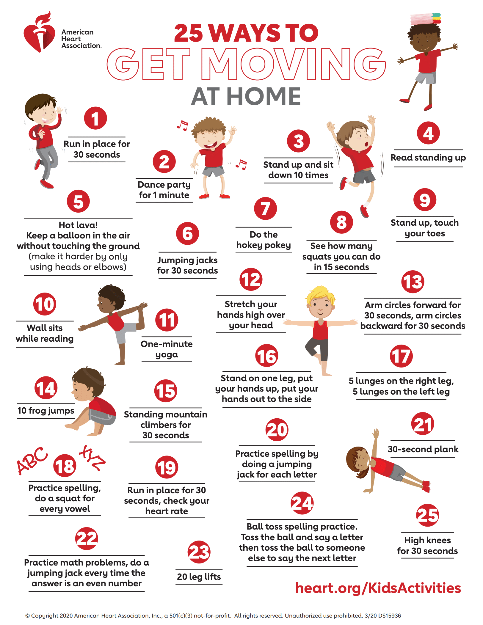 25 at home exercises for kids