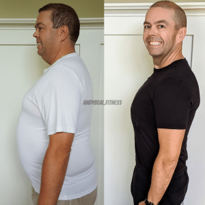 Andy Beal before after weight loss